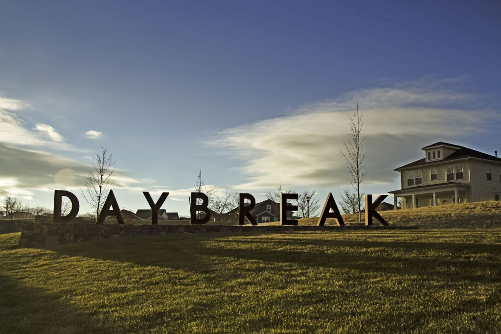 Daybreak sign