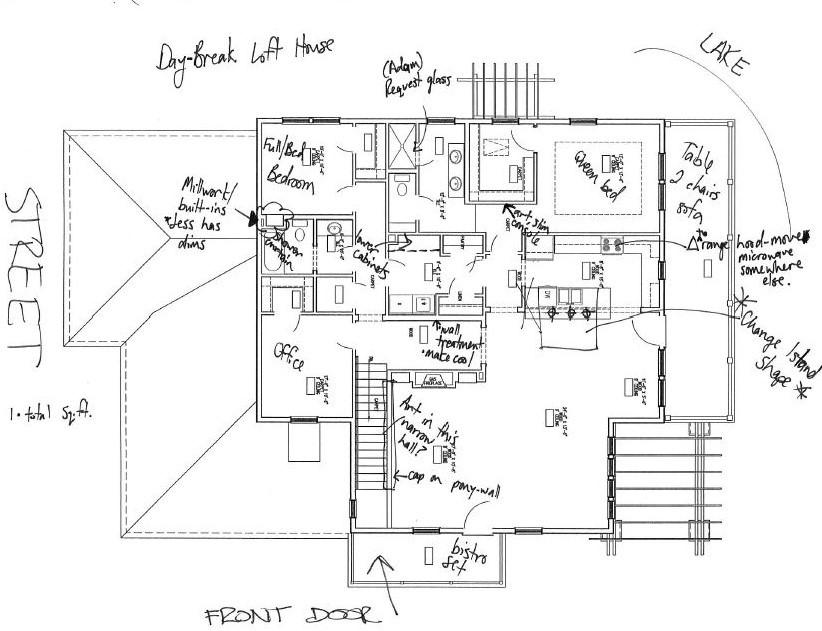 Lake Loft floor plan sketch