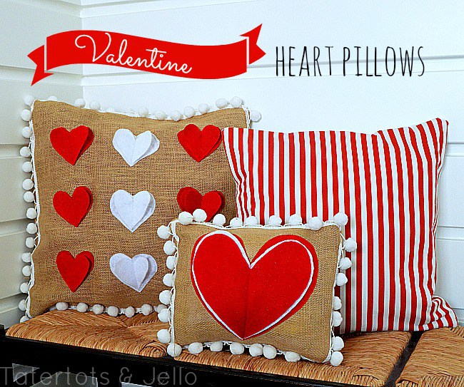 valentine-heart-and-pom-pom-pillows