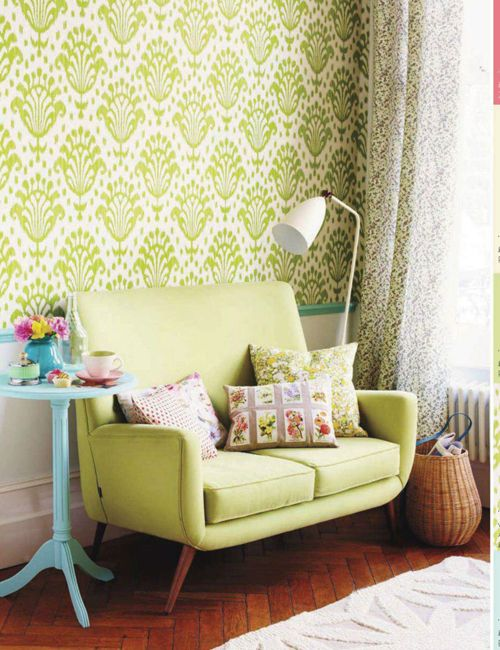 2017 Design Trend: Paint and Wallpaper in Greenery.