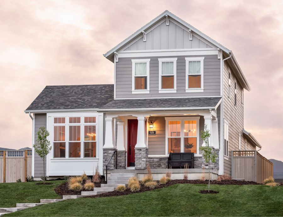 Holmes Homes Exterior at Daybreak   Utah Home Builders