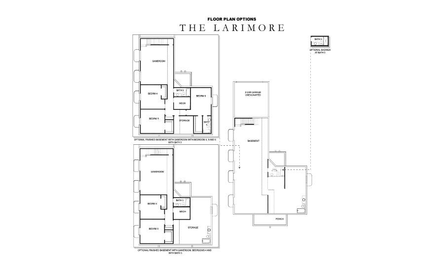 David Weekley Homes The Larimore Basement | Daybreak Utah