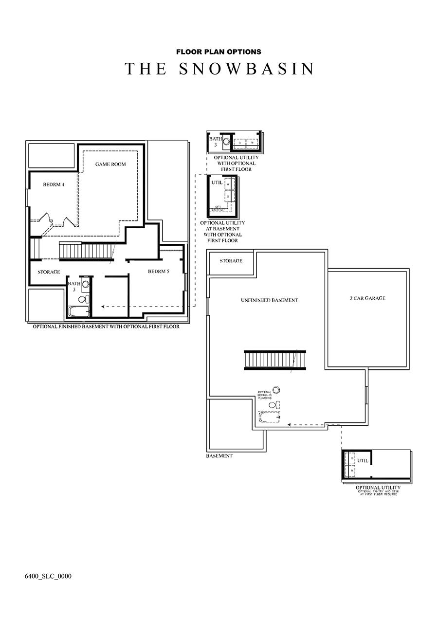David Weekley Homes Snowbasin Basement | Daybreak Utah