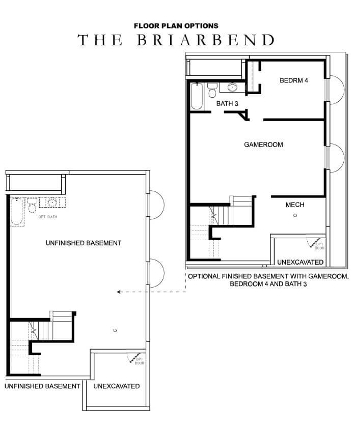 David Weekley Homes Briarbend Basement Daybreak Utah