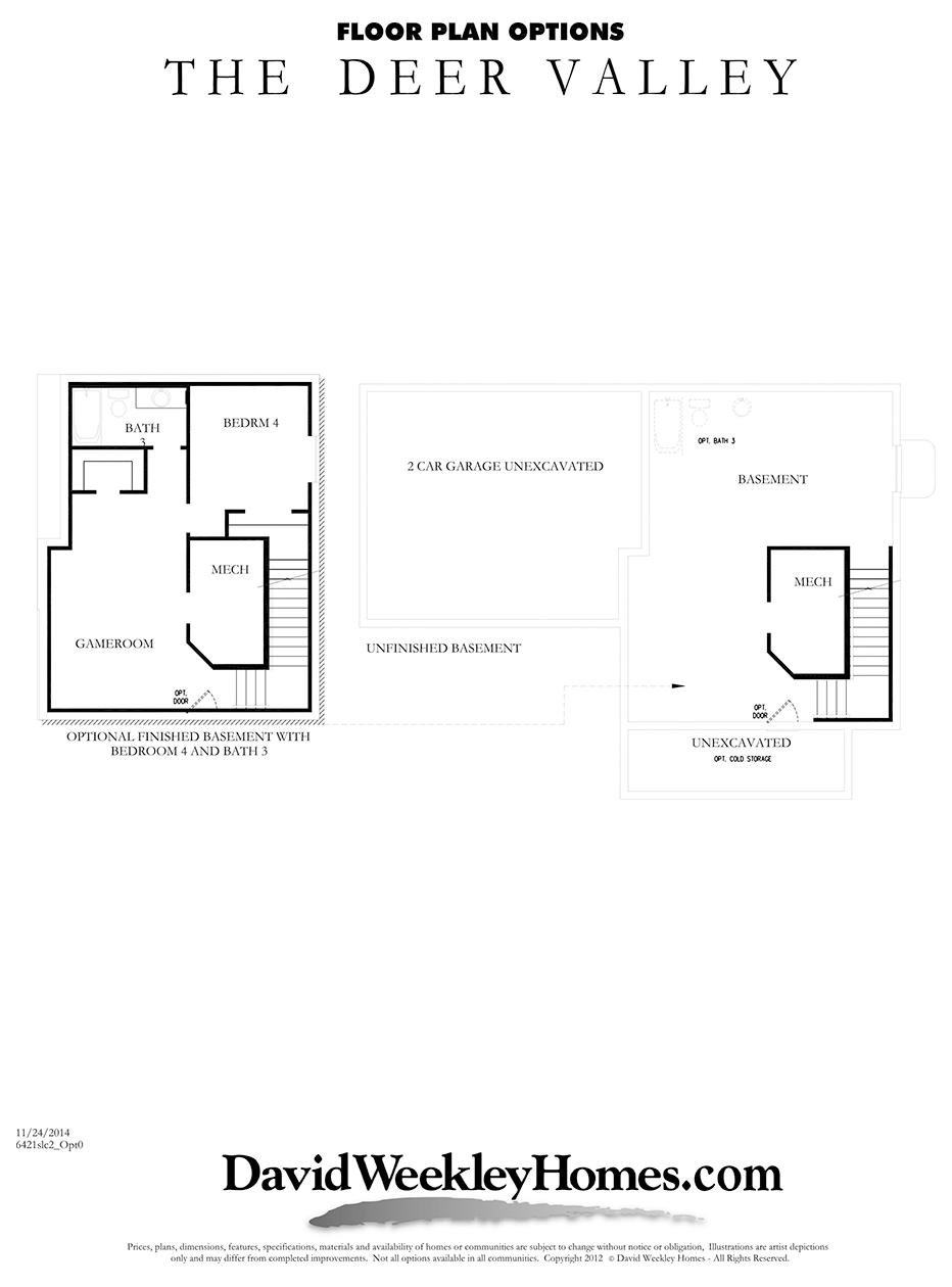 David Weekley Homes Deer Valley Basement | Daybreak Utah