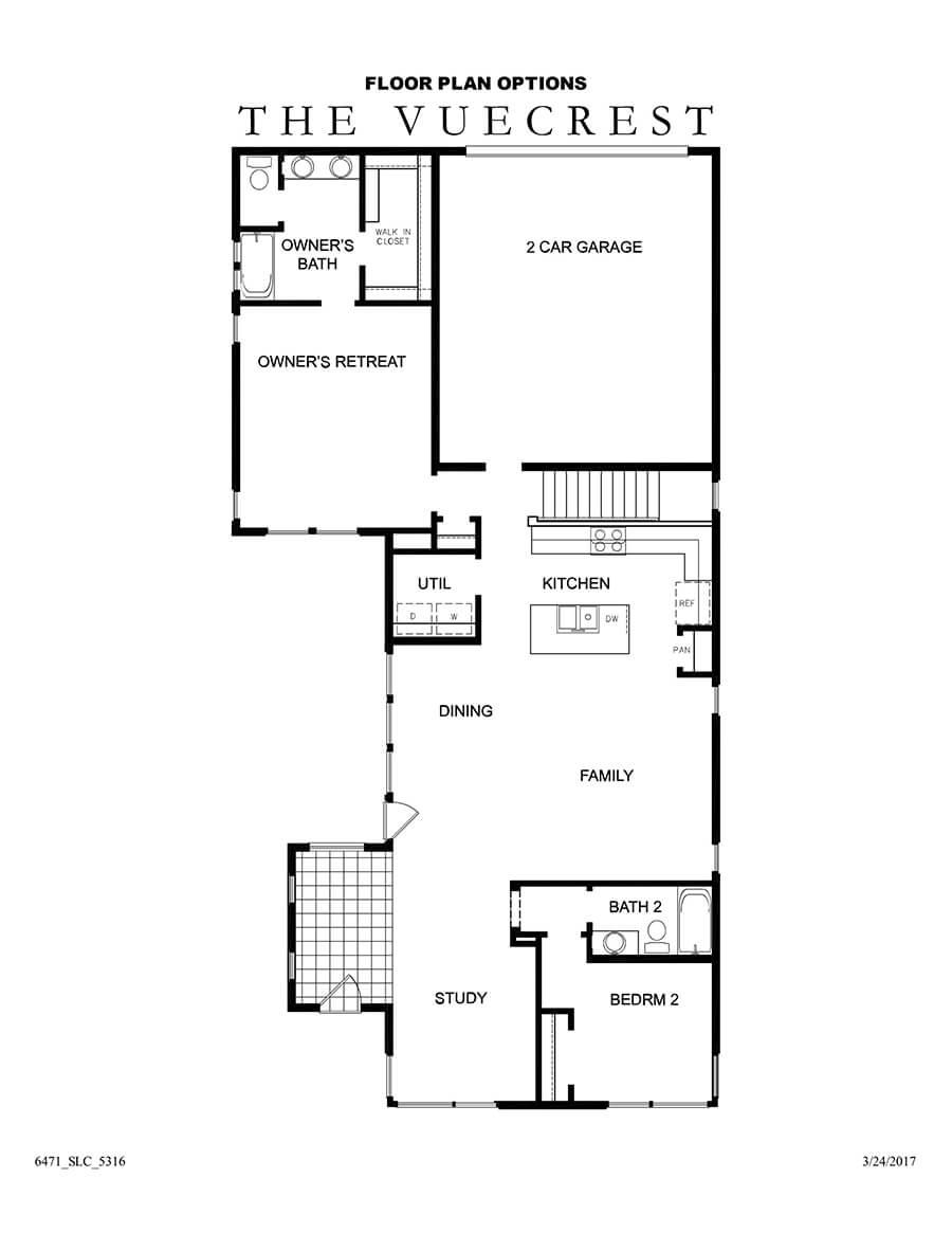 David Weekley Homes The Vuecrest Main Level | Daybreak Utah