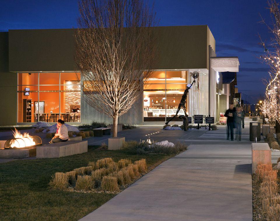 Night Time in Downtown Daybreak | Daybreak Utah, South Jordan Homes for Sale