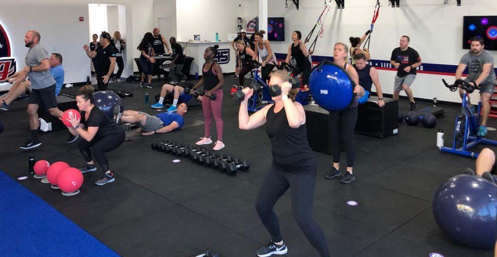 Workout at F45 SoDa Row.