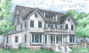 Artistic rendering of the Southampton floor plan built by Parkwood Homes in Daybreak.
