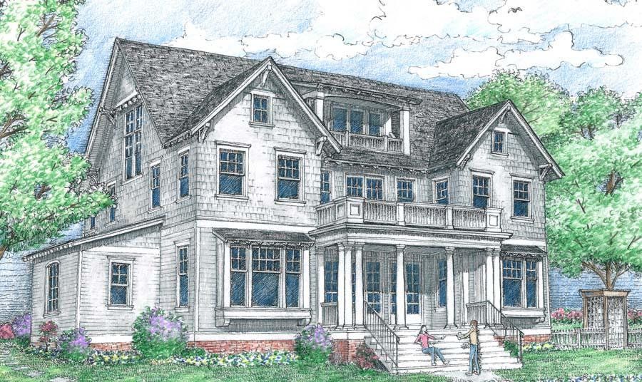 Artistic rendering of the Southampton floor plan built by Parkwood Homes in Daybreak.