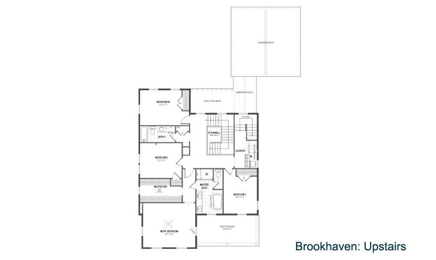 Rendering of Brookhaven floor plan located in Daybreak.