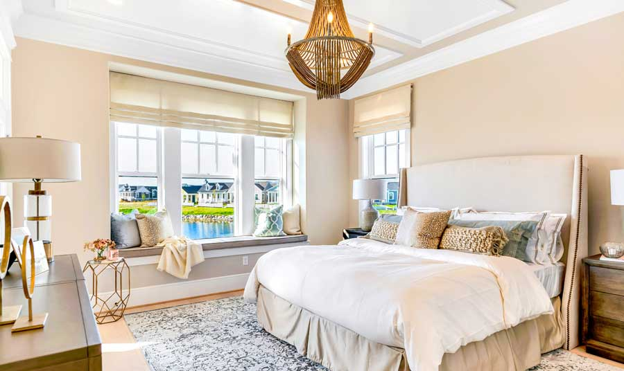 Master bedroom of the Southampon floor plan built by Parkwood Homes.