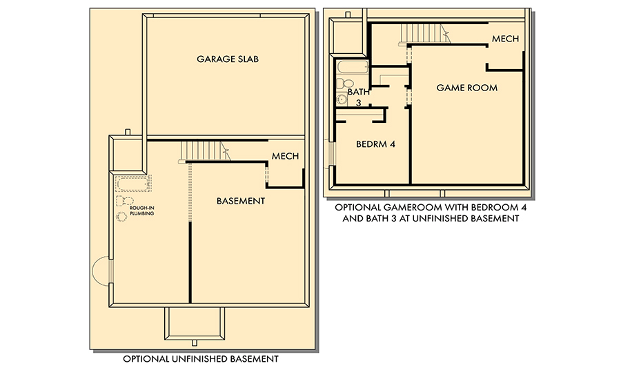 David Weekley Homes The Clipper Basement | Daybreak Utah
