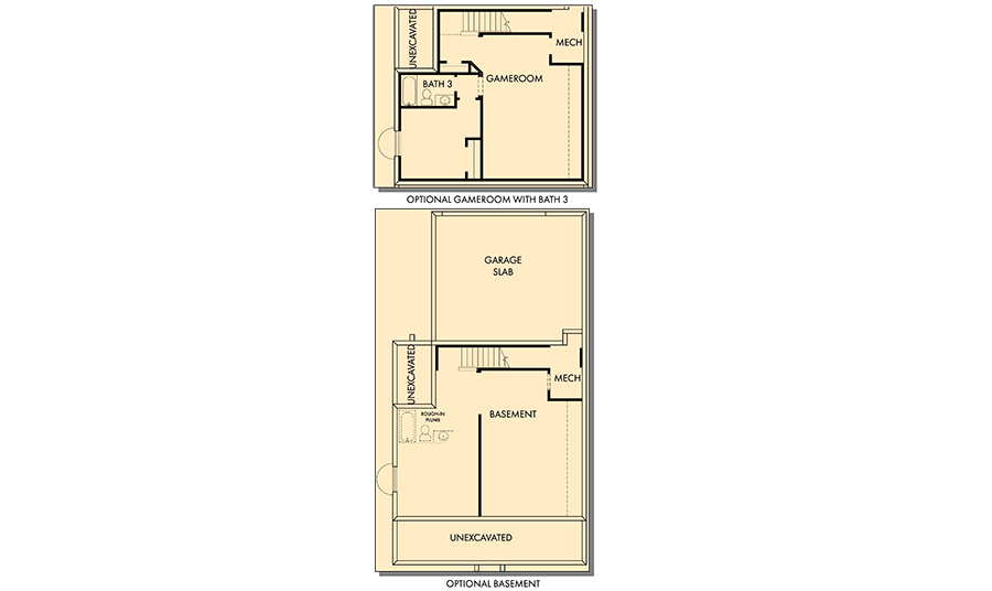 David Weekley Homes The Clayton Basement | Daybreak Utah