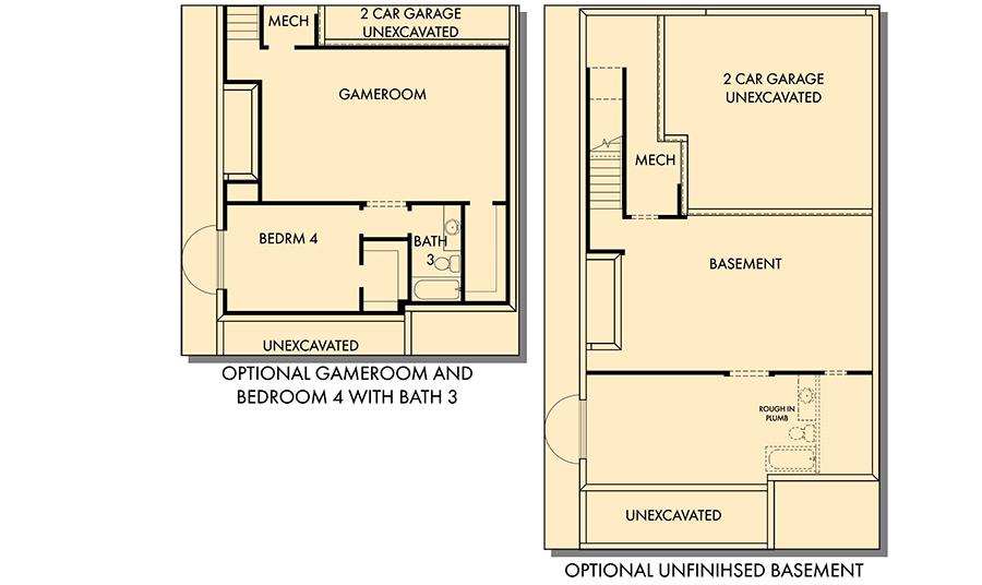 David Weekley Homes The Grandview Basement | Daybreak Utah