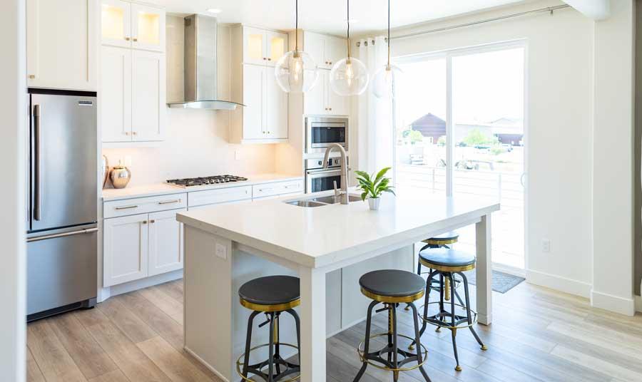 Sky Terrace Model Home Kitchen | Daybreak Utah New Homes