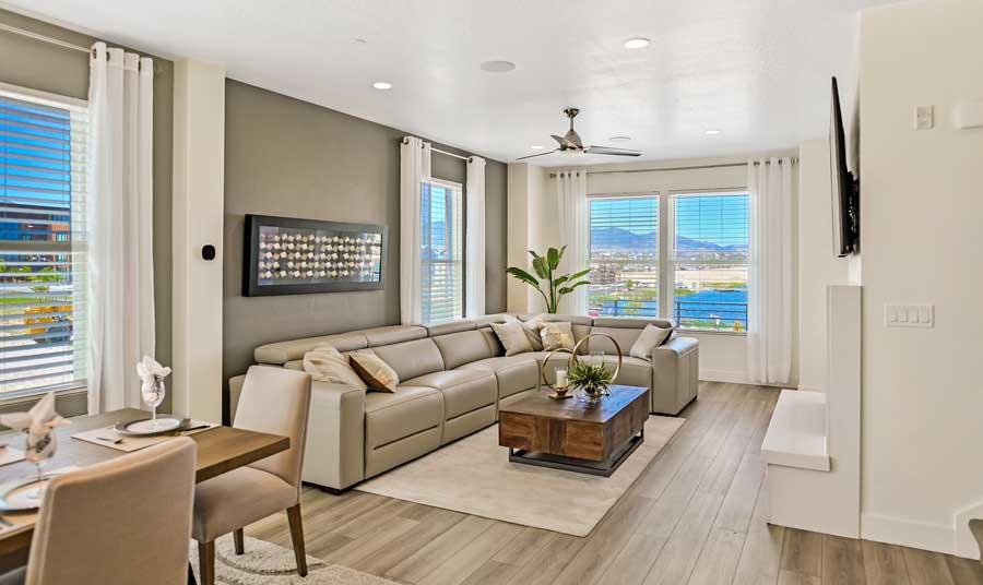 Sky Terrace Model Home Interior | Daybreak Utah New Homes