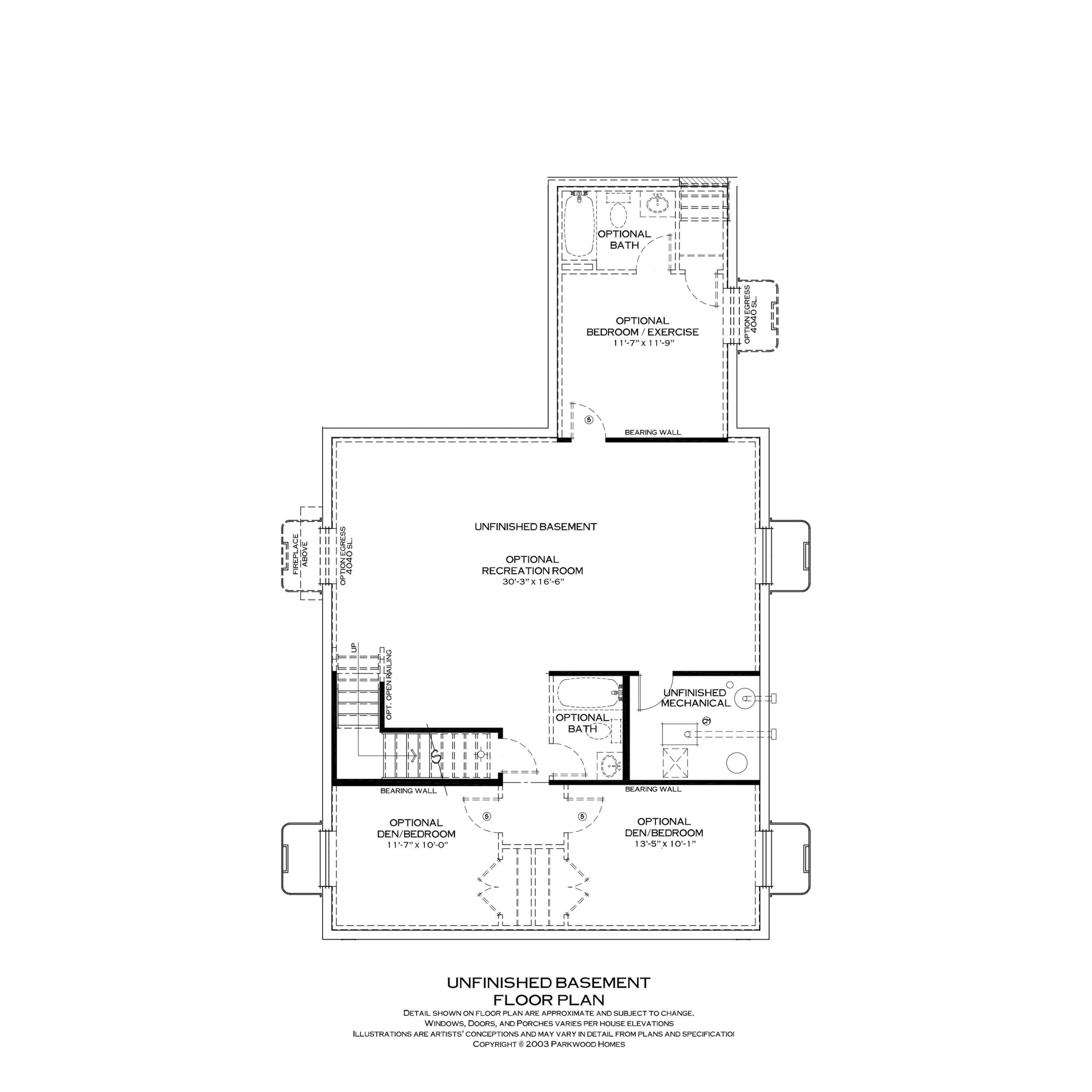 Parkwood Homes Somerville Basement | Daybreak Utah