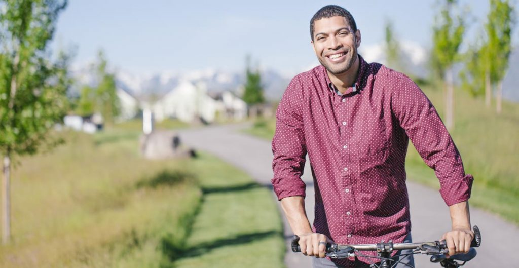 Daybreak residents enjoy living in a bikeable neighborhood near Oquirrh Lake.