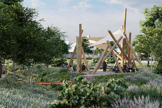 Basin Park, coming in 2021 to Daybreak Utah with a walking path, native plantings and a picnic area