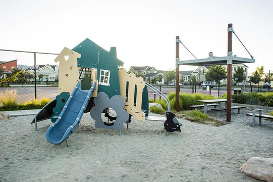 View of Church Park's playground at Daybreak Utah