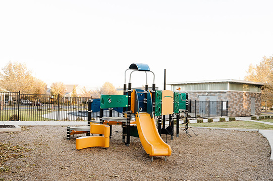 View of Founders Park's playground at Daybreak Utah