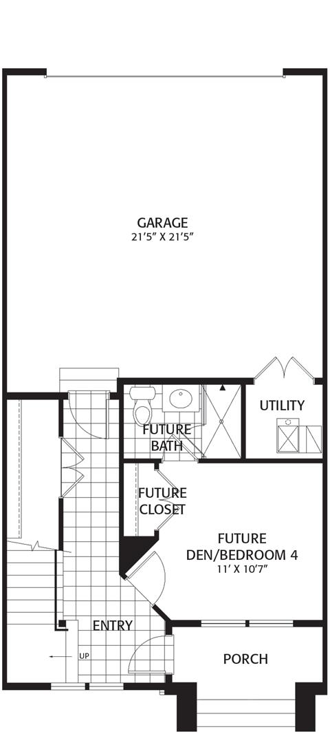 Holmes Homes Brownstone B Main Level | Daybreak Utah