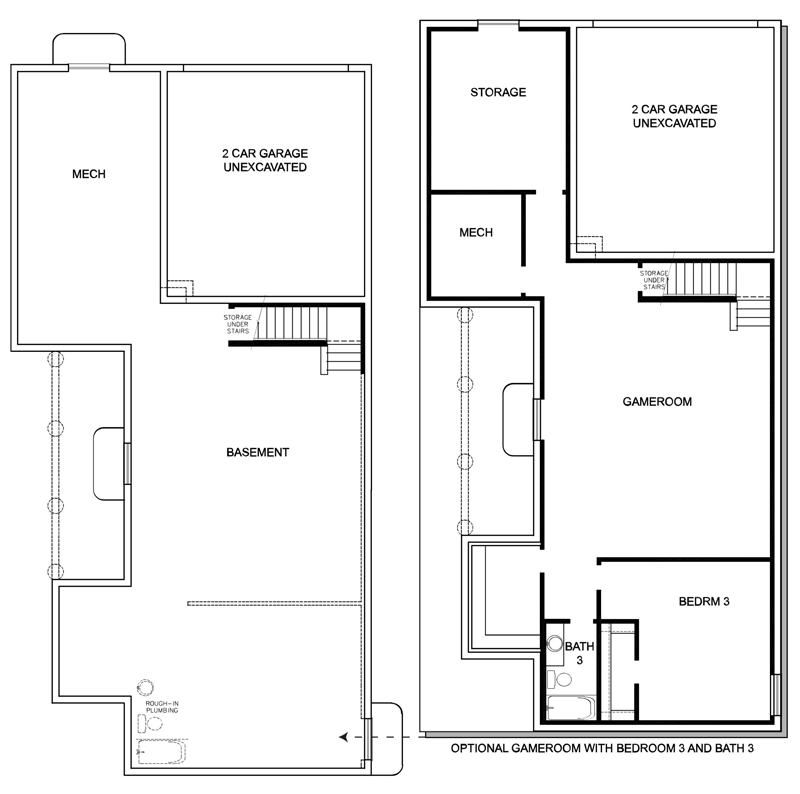 David Weekley Homes The Vuecrest Basement | Daybreak Utah