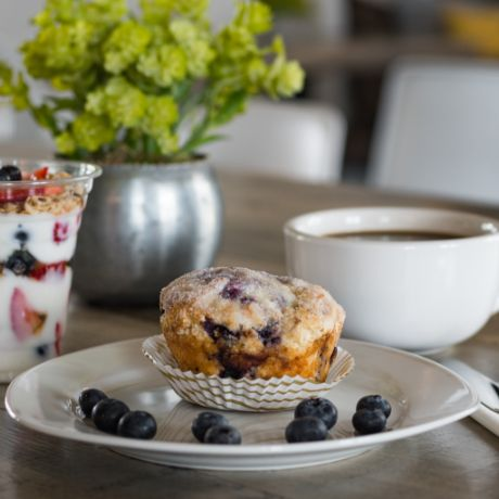 Blueberry muffin at Biscotts Bakery & Café at Daybreak Utah in South Jordan