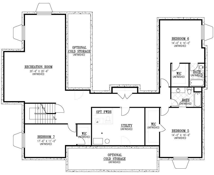 Rainey Homes  Basement | Daybreak Utah
