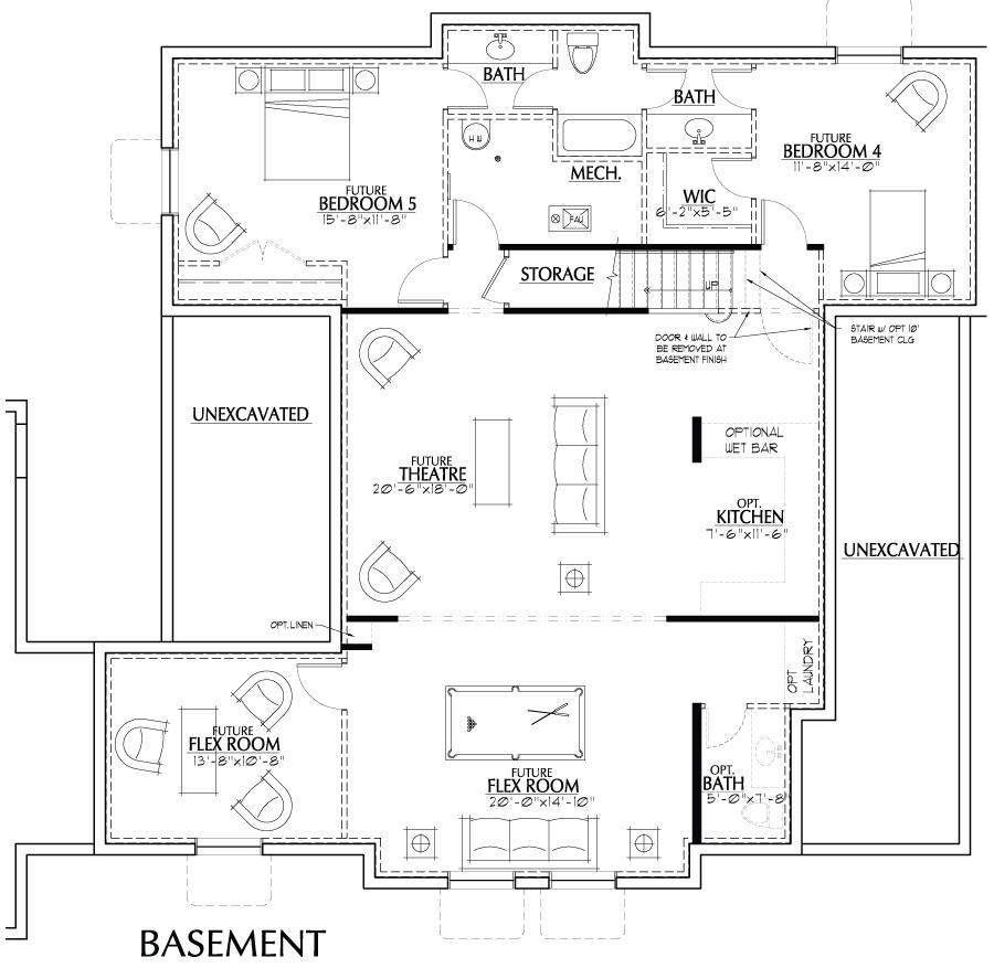 Holmes Homes Raleigh Basement | Daybreak Utah