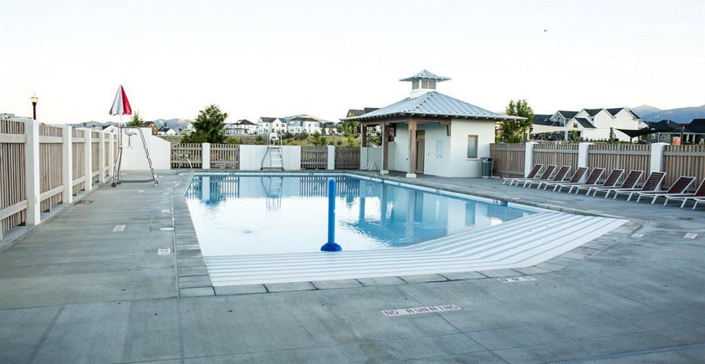 brookside pool, daybreak amenities in creekside village   daybreak utah new homes