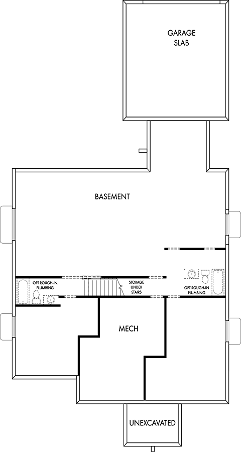 David Weekley Homes The Elkhorn Basement   Daybreak Utah