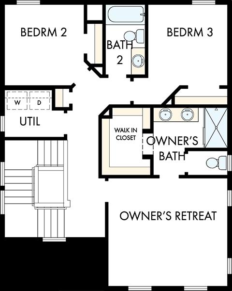 David Weekley Homes The Eastlake Second Level | Daybreak Utah
