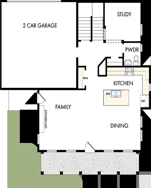 David Weekley Homes The Firmont Main Level | Daybreak Utah