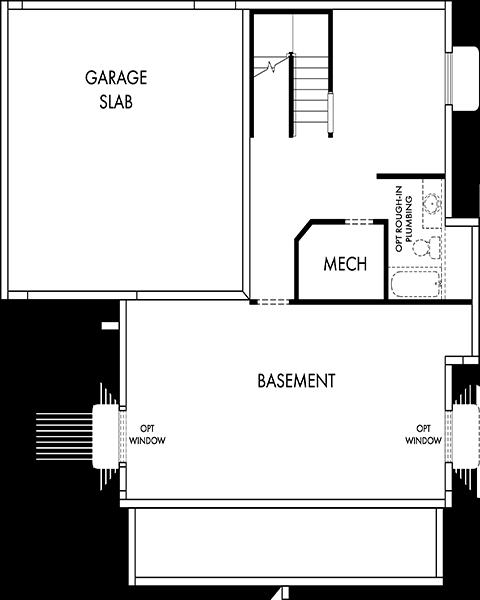 David Weekley Homes The Firmont Basement | Daybreak Utah