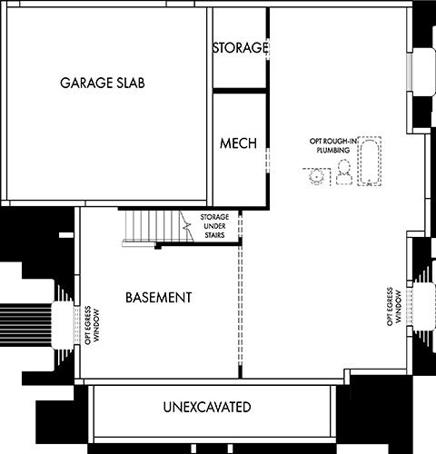 David Weekley Homes The Mchahon Basement | Daybreak Utah