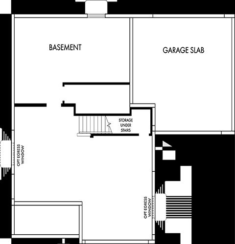 David Weekley Homes The Peninsula Basement | Daybreak Utah