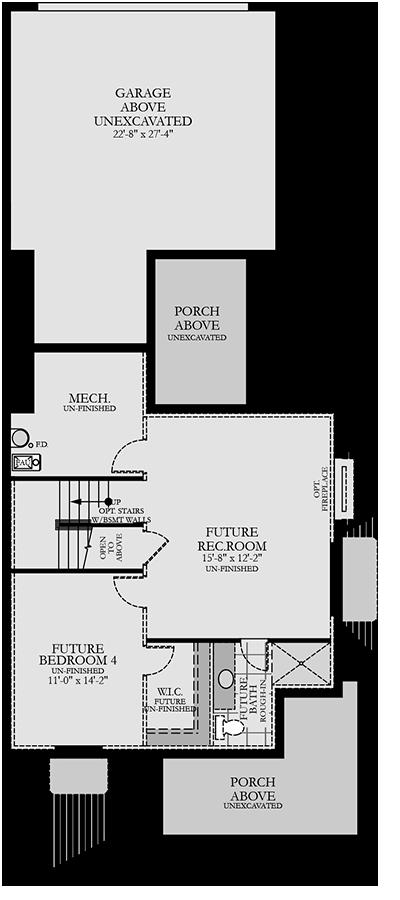 Holmes Homes Seacott Basement | Daybreak Utah
