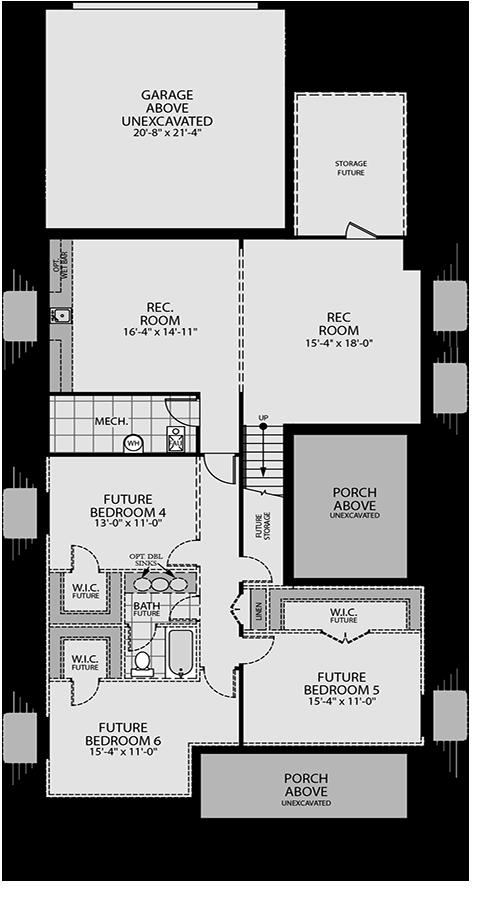 Holmes Homes Nightingale Basement   Daybreak Utah