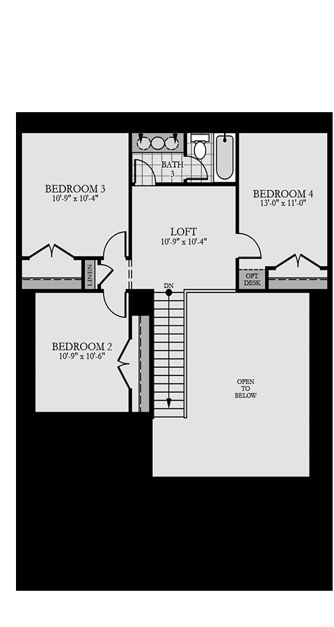 Holmes Homes Huntington Second Level | Daybreak Utah