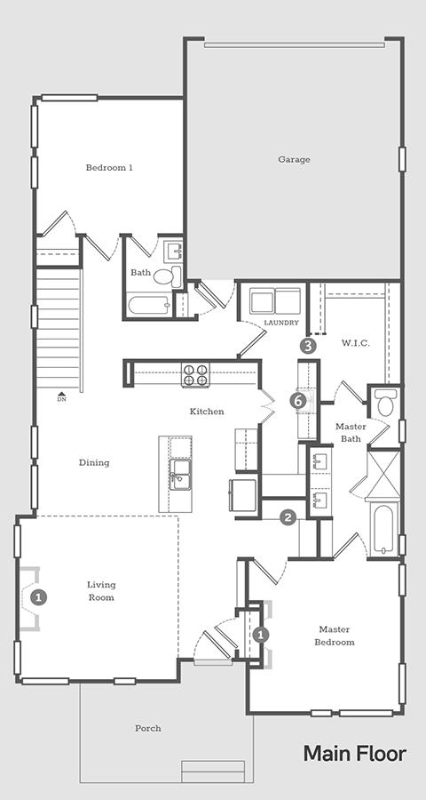 Sego Homes Founder Main Level | Daybreak Utah