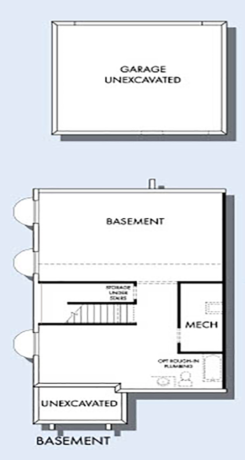 David Weekley Homes The Bitterbrush Basement | Daybreak Utah